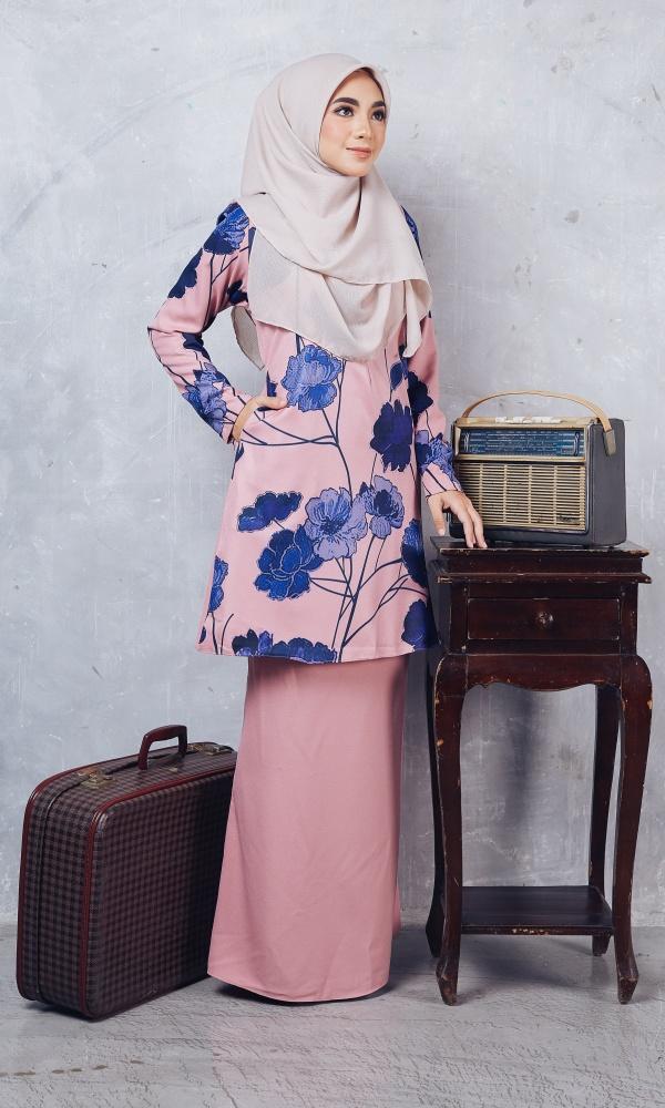 Baju Kurung Batik Casilda02 Light Pink 15