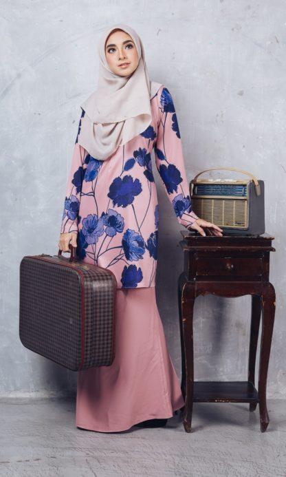 Baju Kurung Batik Casilda02 Light Pink 4