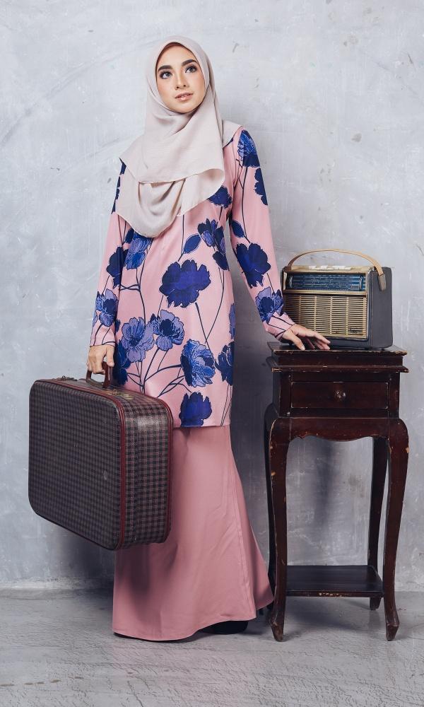 Baju Kurung Batik Casilda02 Light Pink 16