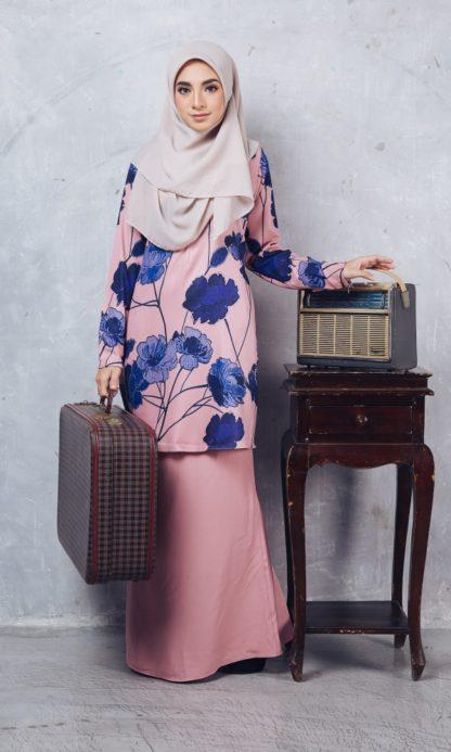 Baju Kurung Batik Casilda02 Light Pink 5