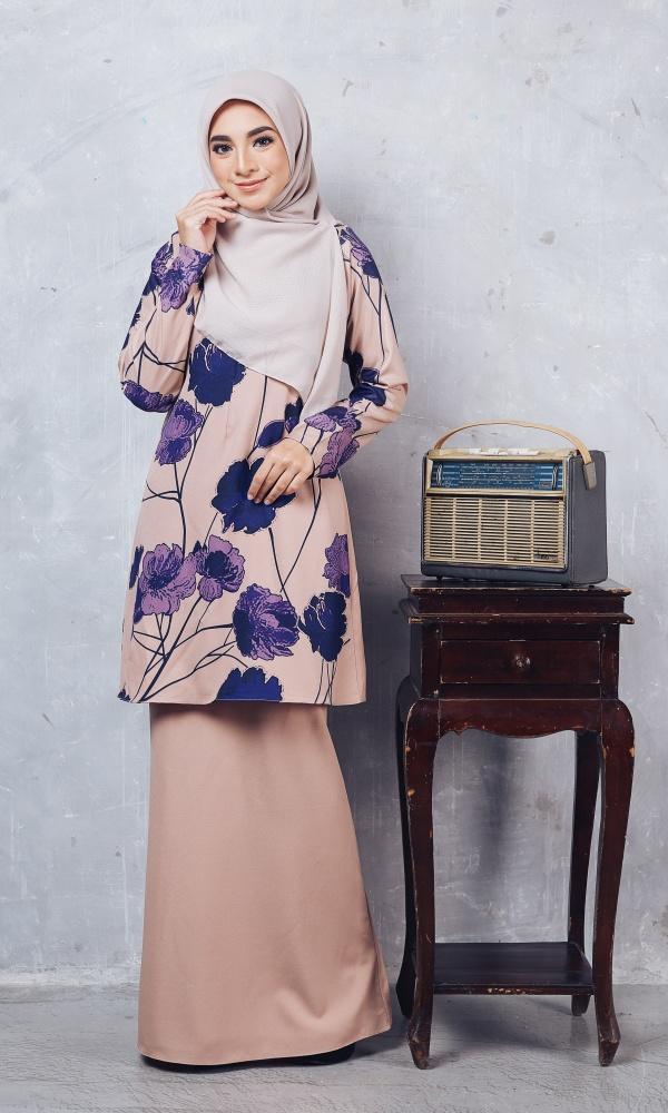 Baju Kurung Batik Casilda03 Nude 15