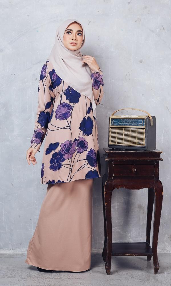 Baju Kurung Batik Casilda03 Nude 17