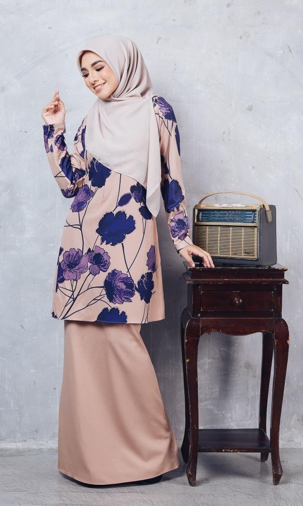 Baju Kurung Batik Casilda03 Nude 18