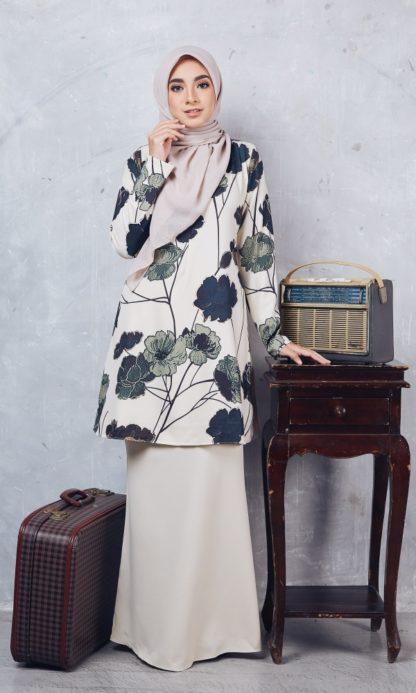 Baju Kurung Moden Casilda04 Cream 1