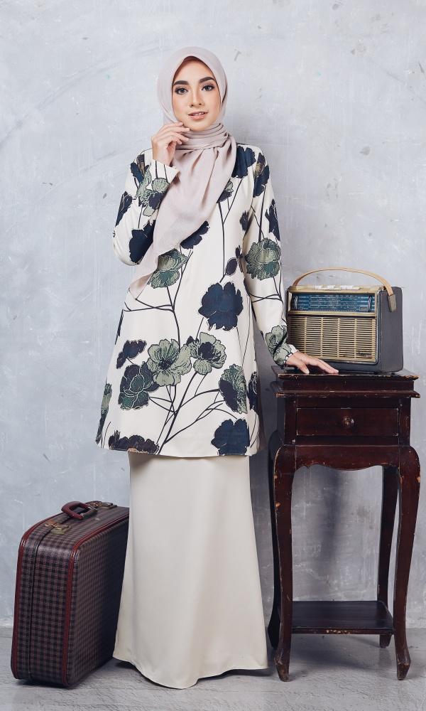 Baju Kurung Moden Casilda04 Cream 8