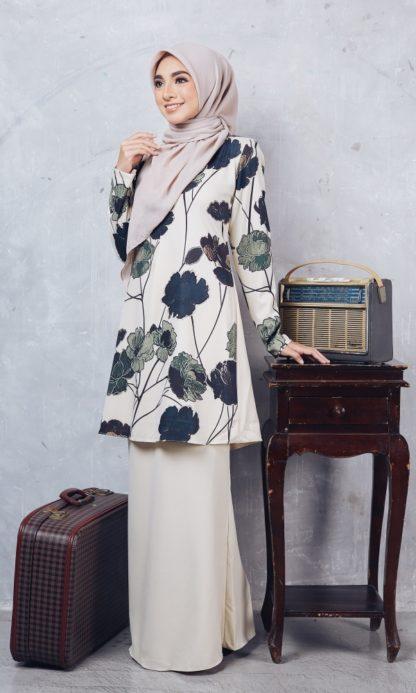 Baju Kurung Moden Casilda04 Cream 2
