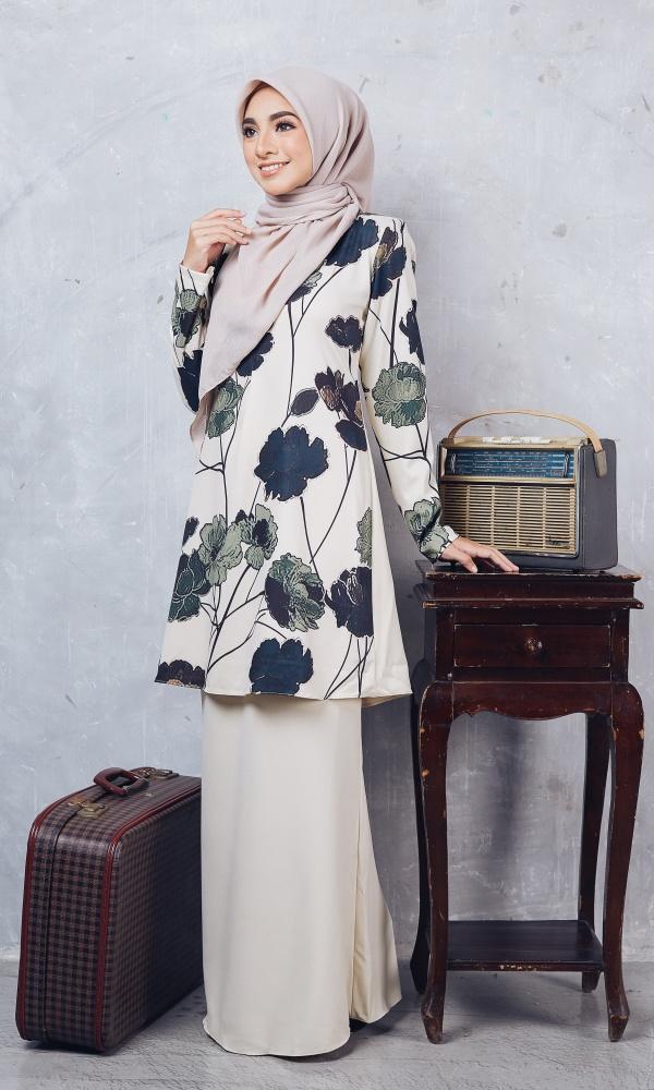 Baju Kurung Moden Casilda04 Cream 7