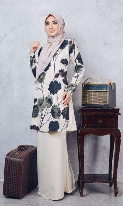 Baju Kurung Moden Casilda04 Cream 3