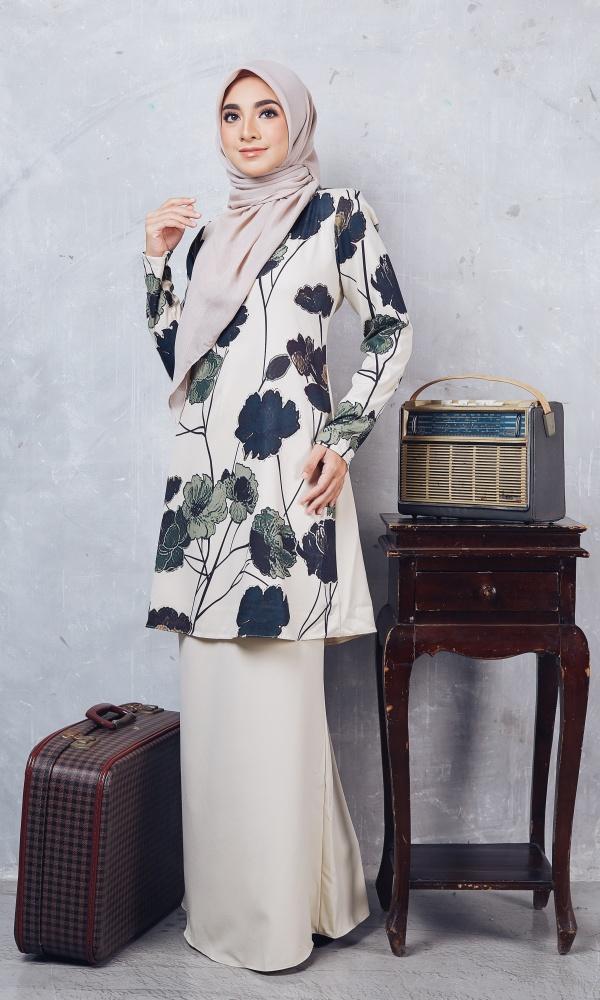 Baju Kurung Moden Casilda04 Cream 9