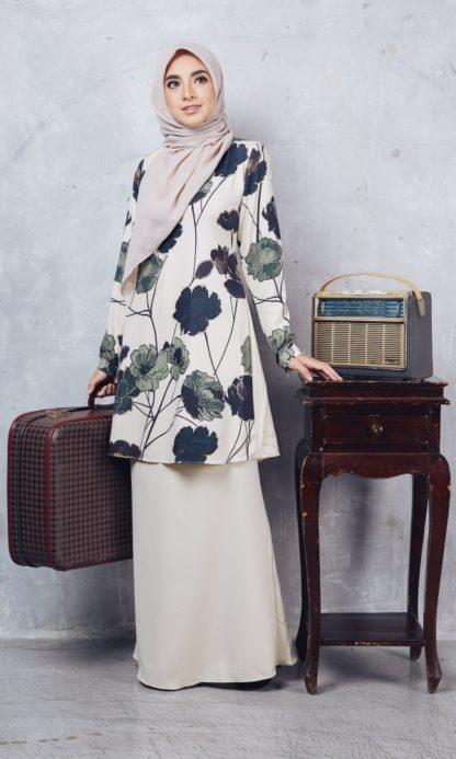 Baju Kurung Moden Casilda04 Cream 4