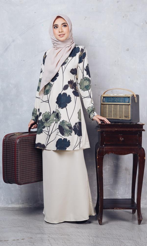 Baju Kurung Moden Casilda04 Cream 10
