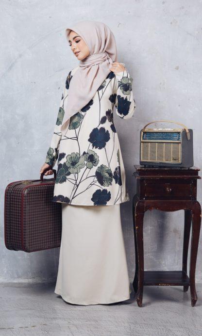 Baju Kurung Moden Casilda04 Cream 5
