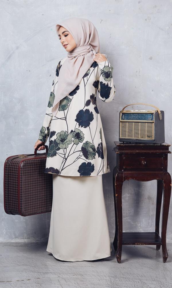 Baju Kurung Moden Casilda04 Cream 11