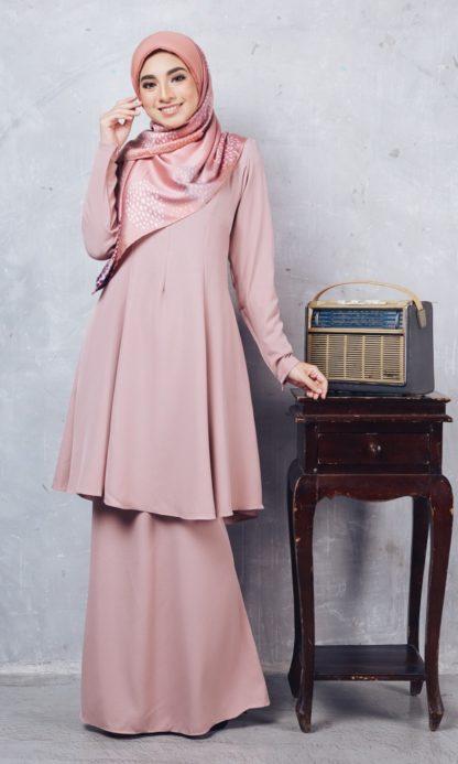 Baju Kurung Riau Syabila02 Pink 4