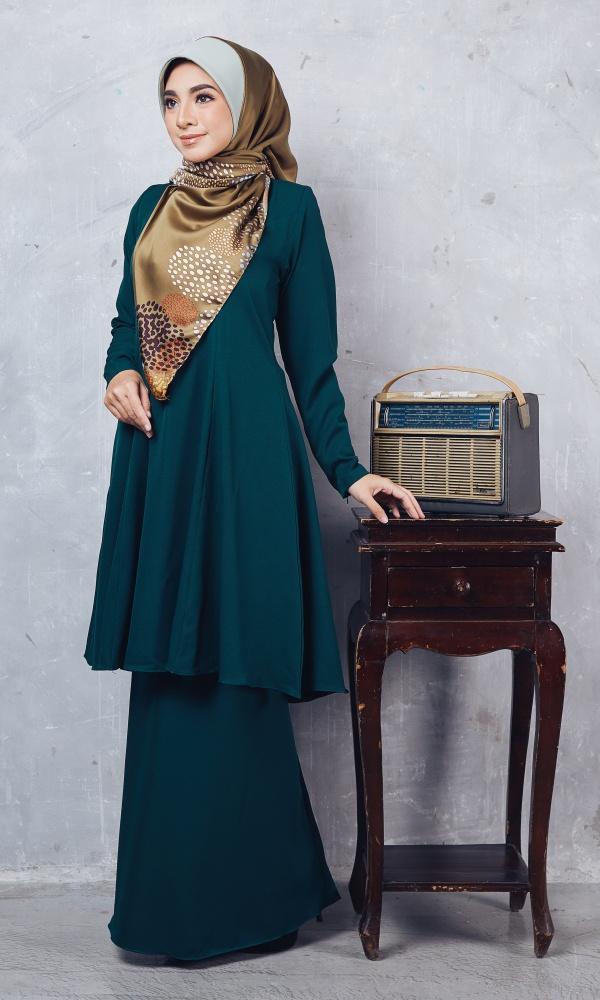 Baju Kurung Riau Syabila04 Emerald Green 12