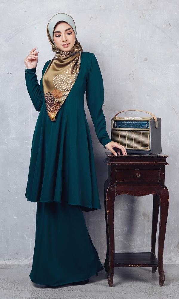 Baju Kurung Riau Syabila04 Emerald Green 13