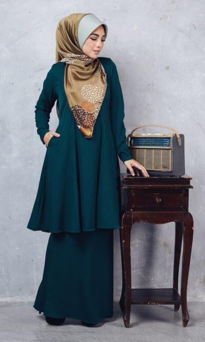 Baju Kurung Riau Syabila04 Emerald Green 3