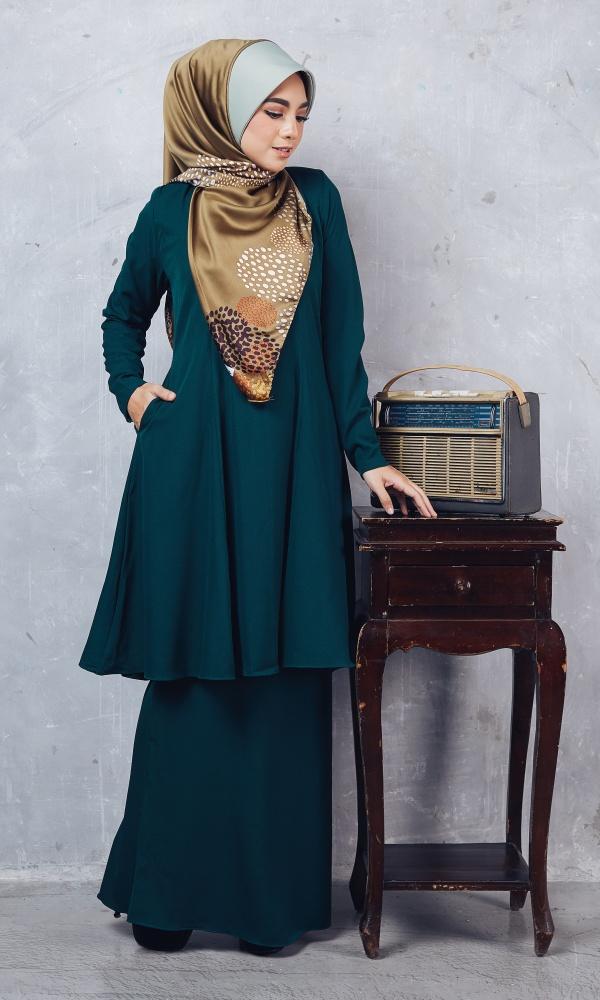 Baju Kurung Riau Syabila04 Emerald Green 14