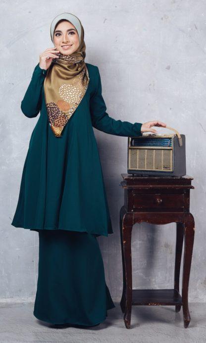Baju Kurung Riau Syabila04 Emerald Green 4