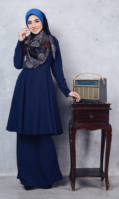 Baju Kurung Riau Syabila01 Dark Blue 6