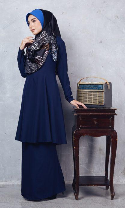 Baju Kurung Riau Syabila01 Dark Blue 5