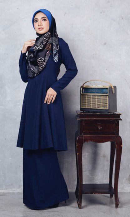 Baju Kurung Riau Syabila01 Dark Blue 4