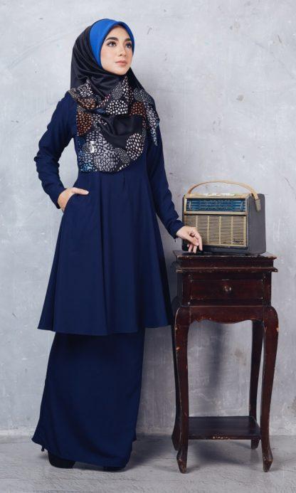 Baju Kurung Riau Syabila01 Dark Blue 3