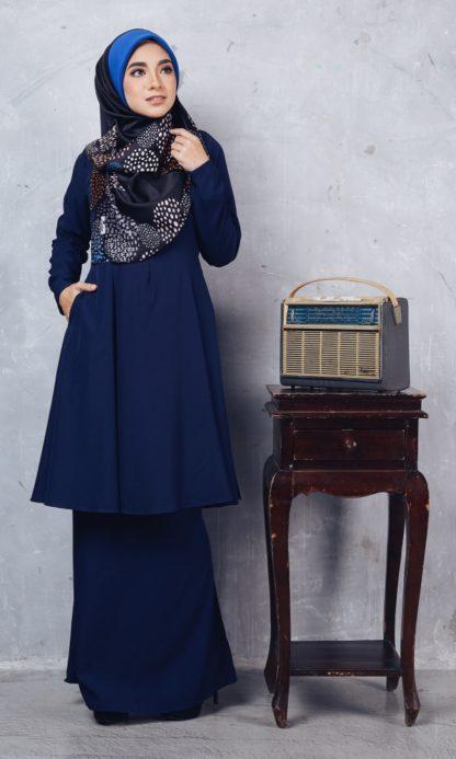 Baju Kurung Riau Syabila01 Dark Blue 1