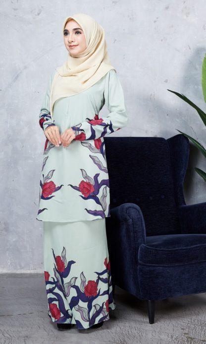 Baju Kurung Chayra02 Mint Green 4