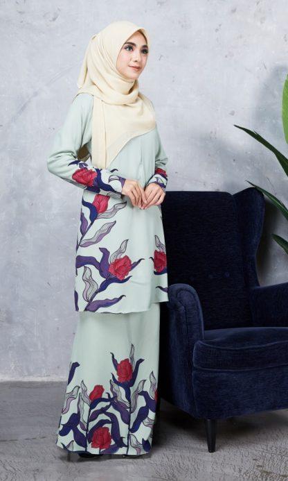 Baju Kurung Chayra02 Mint Green 5