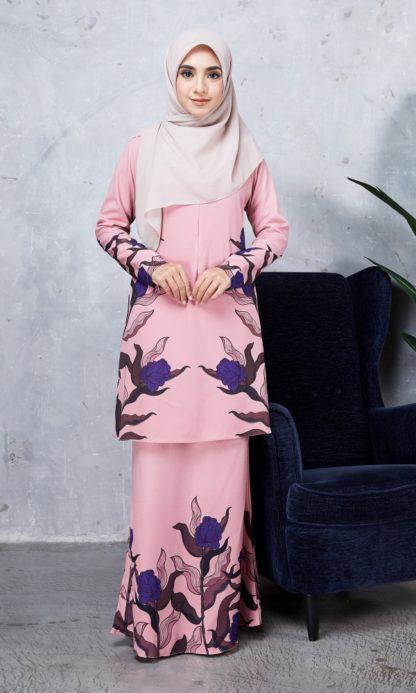 Baju Kurung Chayra04 Dusty Pink 2
