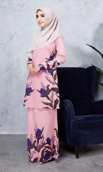 Baju Kurung Chayra04 Dusty Pink 3