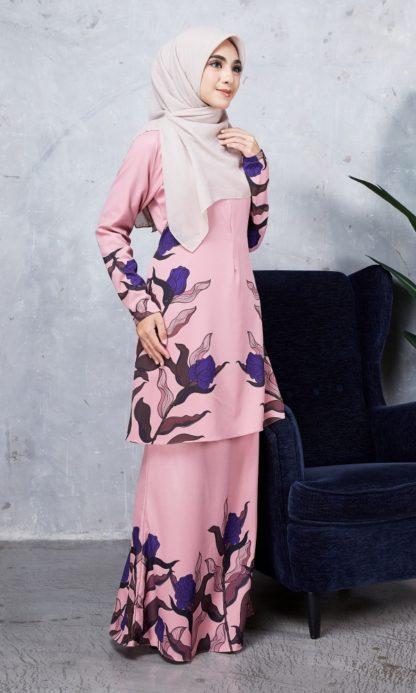 Baju Kurung Chayra04 Dusty Pink 4