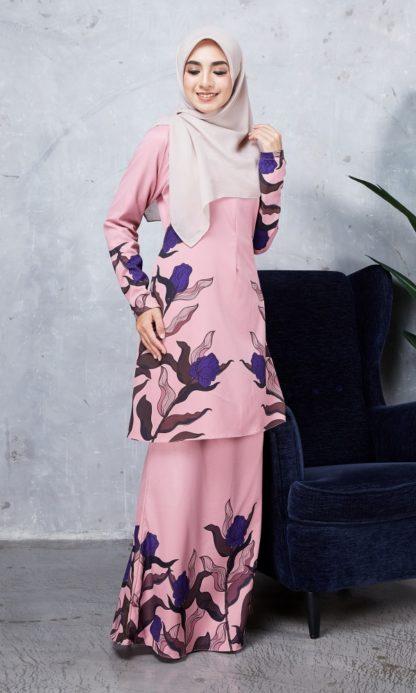 Baju Kurung Chayra04 Dusty Pink 1