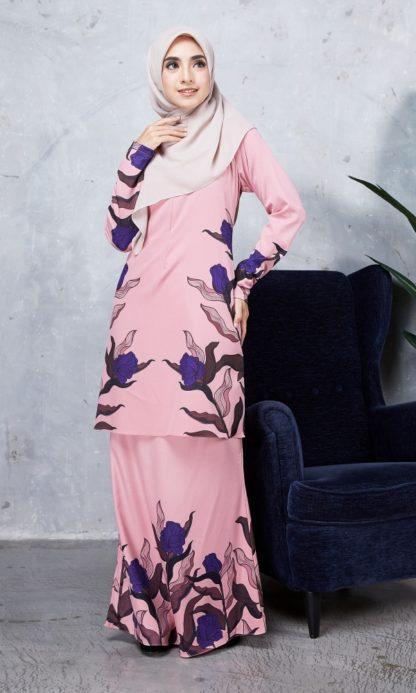 Baju Kurung Chayra04 Dusty Pink 5