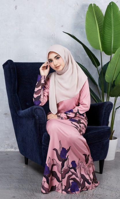 Baju Kurung Chayra04 Dusty Pink 6