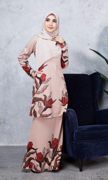 Baju Kurung Chayra05 Nude 2