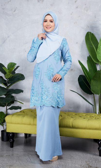 Baju Kurung Moden Sulam Yara03 Baby Blue 1