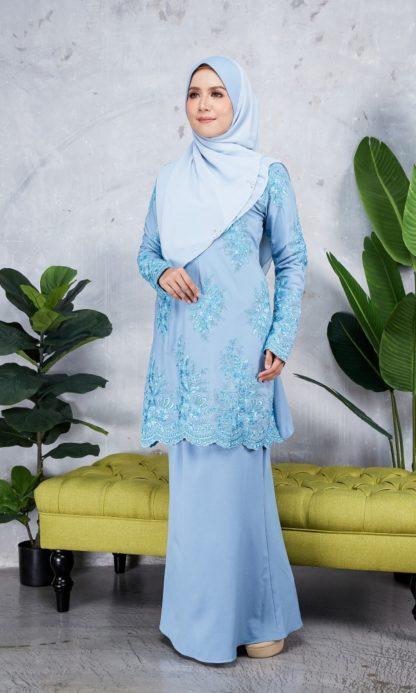 Baju Kurung Moden Sulam Yara03 Baby Blue 3