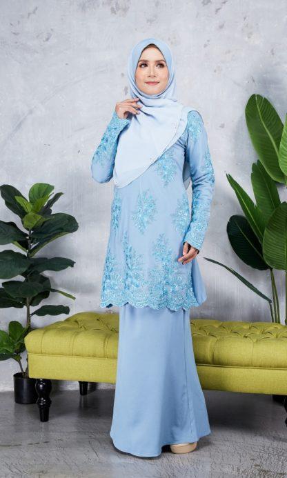 Baju Kurung Moden Sulam Yara03 Baby Blue 4