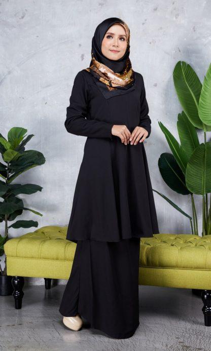 Baju Kurung Riau Syabila05 Black 2