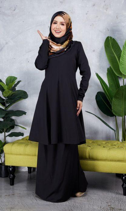 Baju Kurung Riau Syabila05 Black 3