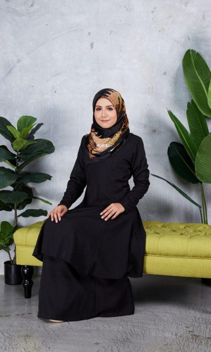 Baju Kurung Riau Syabila05 Black 4