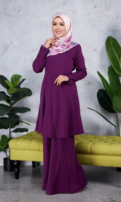 Baju Kurung Riau Syabila06 Purple 5