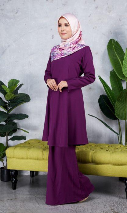 Baju Kurung Riau Syabila06 Purple 4