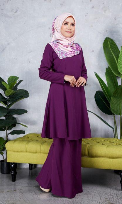 Baju Kurung Riau Syabila06 Purple 3