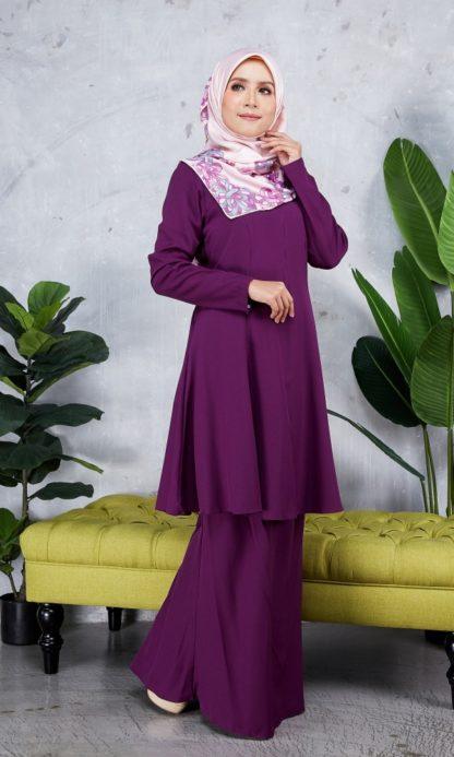 Baju Kurung Riau Syabila06 Purple 1