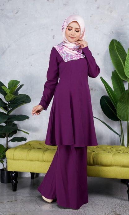 Baju Kurung Riau Syabila06 Purple 2