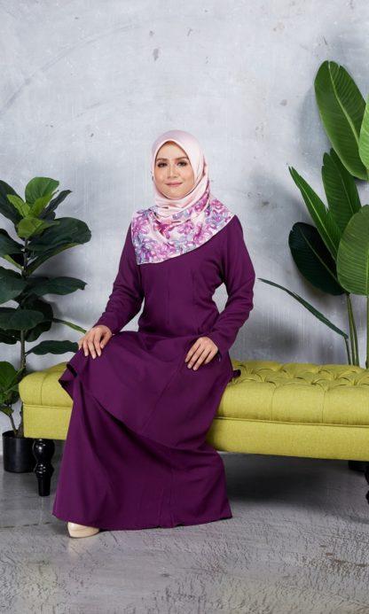 Baju Kurung Riau Syabila06 Purple 6