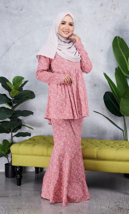 Baju Peplum Haya01 Pink 2